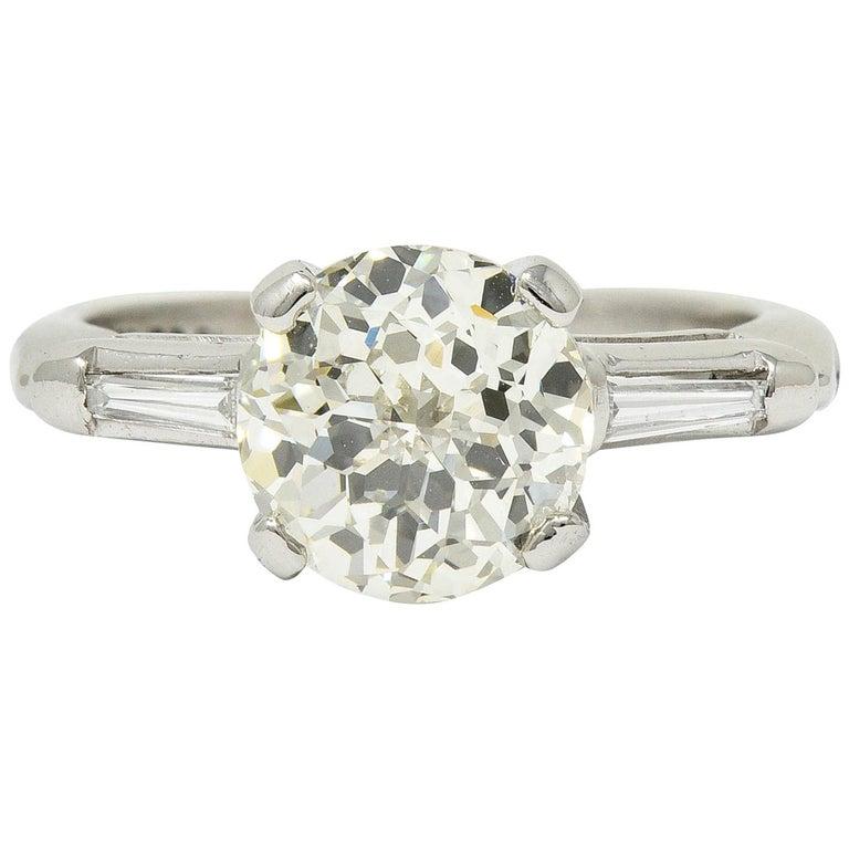 1.82 Carat Jubilee Cut Diamond Platinum Engagement Ring GIA