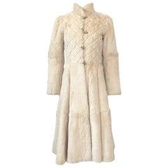 Extraordinary 1970s Emanuel Ungaro Sheared Fur Soft Taupe Cream Coat