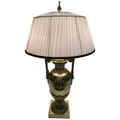 Extraordinary Antique French Cast Bronze Table Lamp