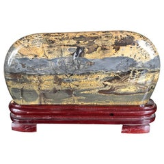 "Extraordinary Big Natural ""Mountains & Lakes"" Viewing  Stone, Fine  Gift"