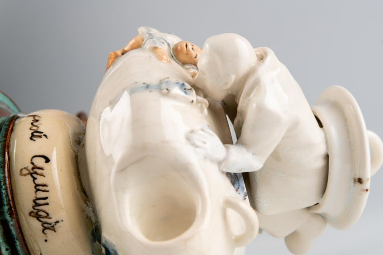 Extraordinary Ceramic Sculpture by Israel Sofia For Sale 8