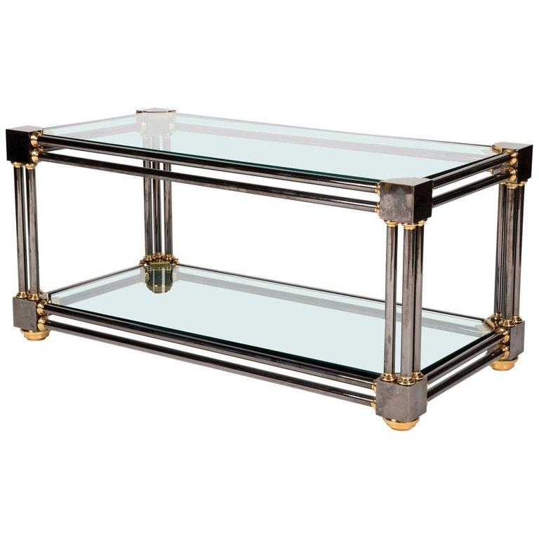 Custom Brass Coffee Table: Extraordinary Custom Brass And Gun Metal Steel Coffee