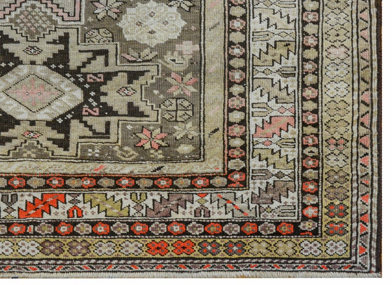 Extraordinary Early 20th Century Shirvan Rug For Sale 2