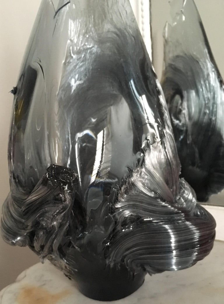 Extraordinary Glass Vase by Contemporary Japanese Artist Shohei Yokoyama In New Condition For Sale In Paris, FR