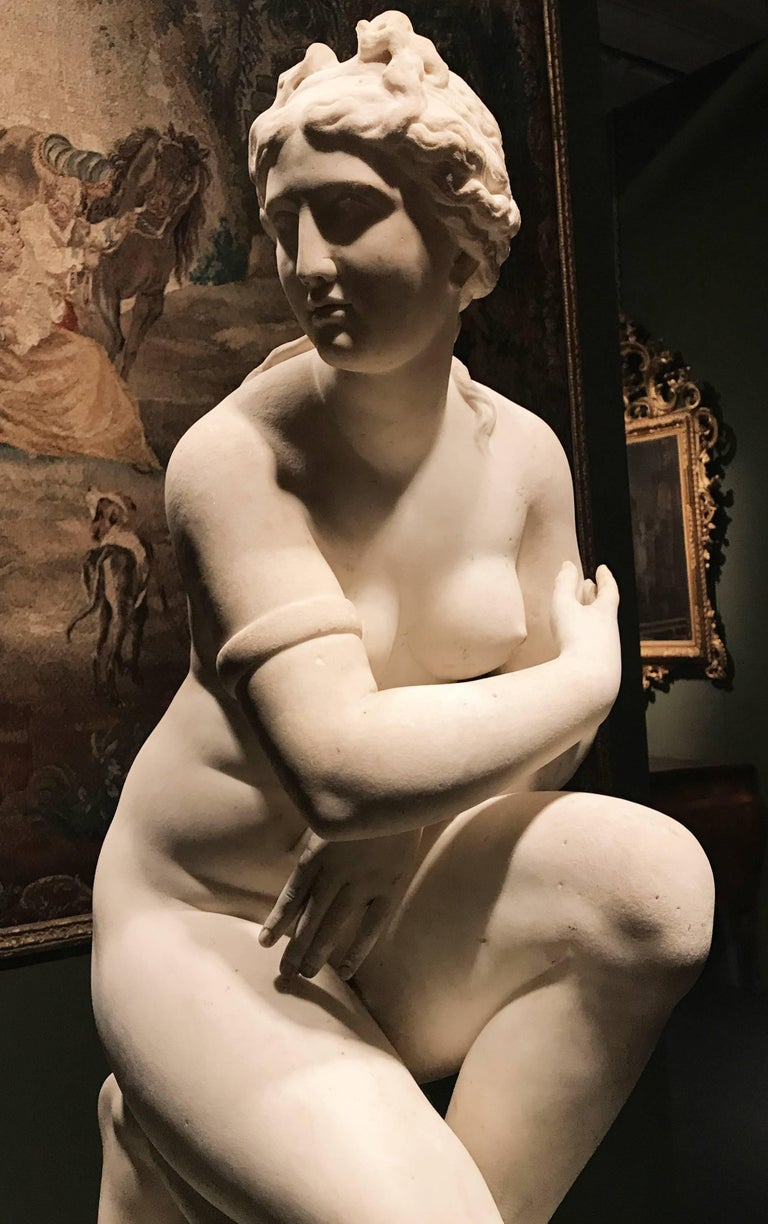 Extraordinary Italian 19th Century Marble Statue of Aphrodite For Sale 5
