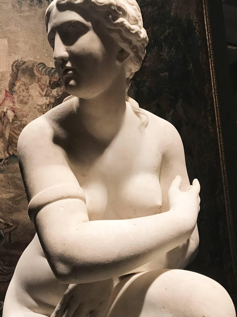 Extraordinary Italian 19th Century Marble Statue of Aphrodite For Sale 2