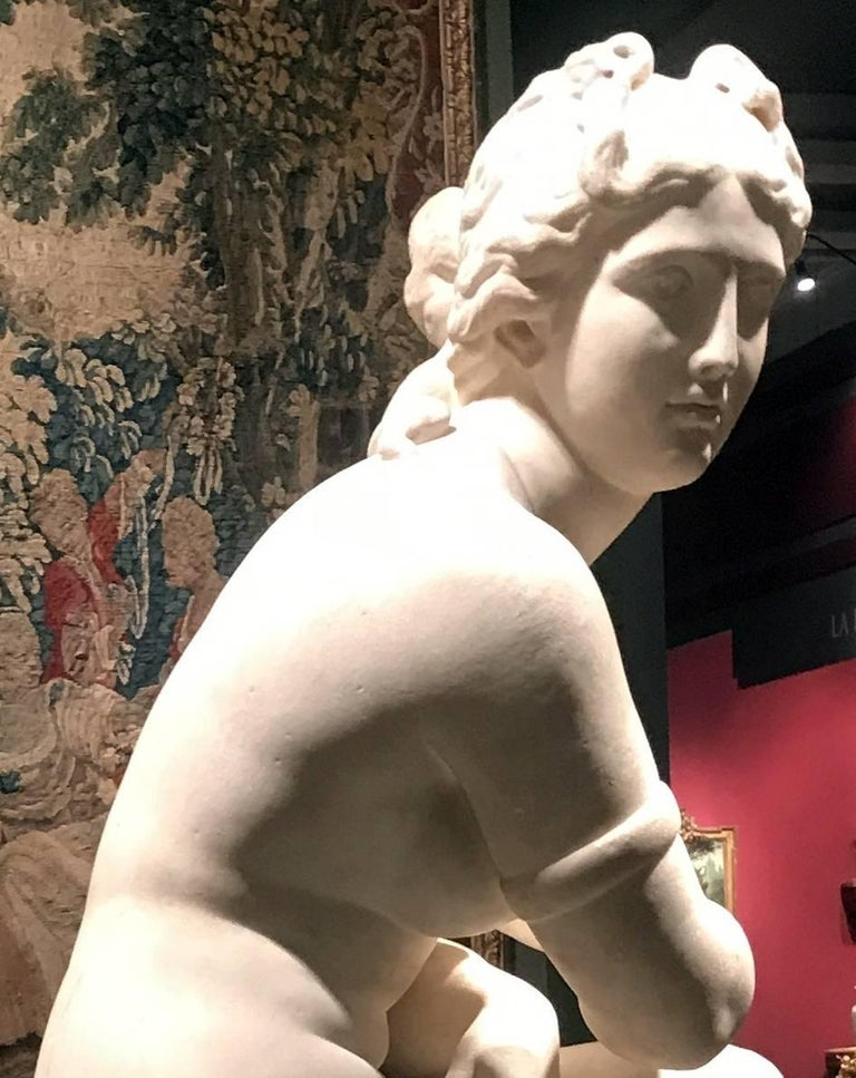 Extraordinary Italian 19th Century Marble Statue of Aphrodite For Sale 3