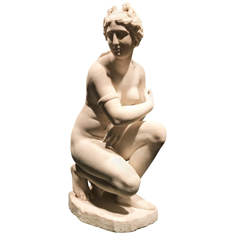 Extraordinary Italian 19th Century Marble Statue of Aphrodite For Sale