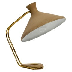 Extraordinary Large German Mid-Century Modern Brass and Metal Table Lamp