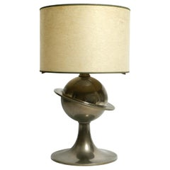 Extraordinary Large Italian Space Age XXL Metal Table Lamp with Fiberglass Shade