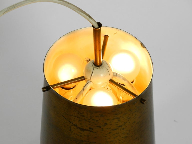 Metal Extraordinary Large Mid-Century Modern Copper Pendant Lamp with 4 Socket For Sale