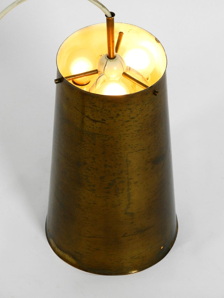 Extraordinary Large Mid-Century Modern Copper Pendant Lamp with 4 Socket For Sale 3
