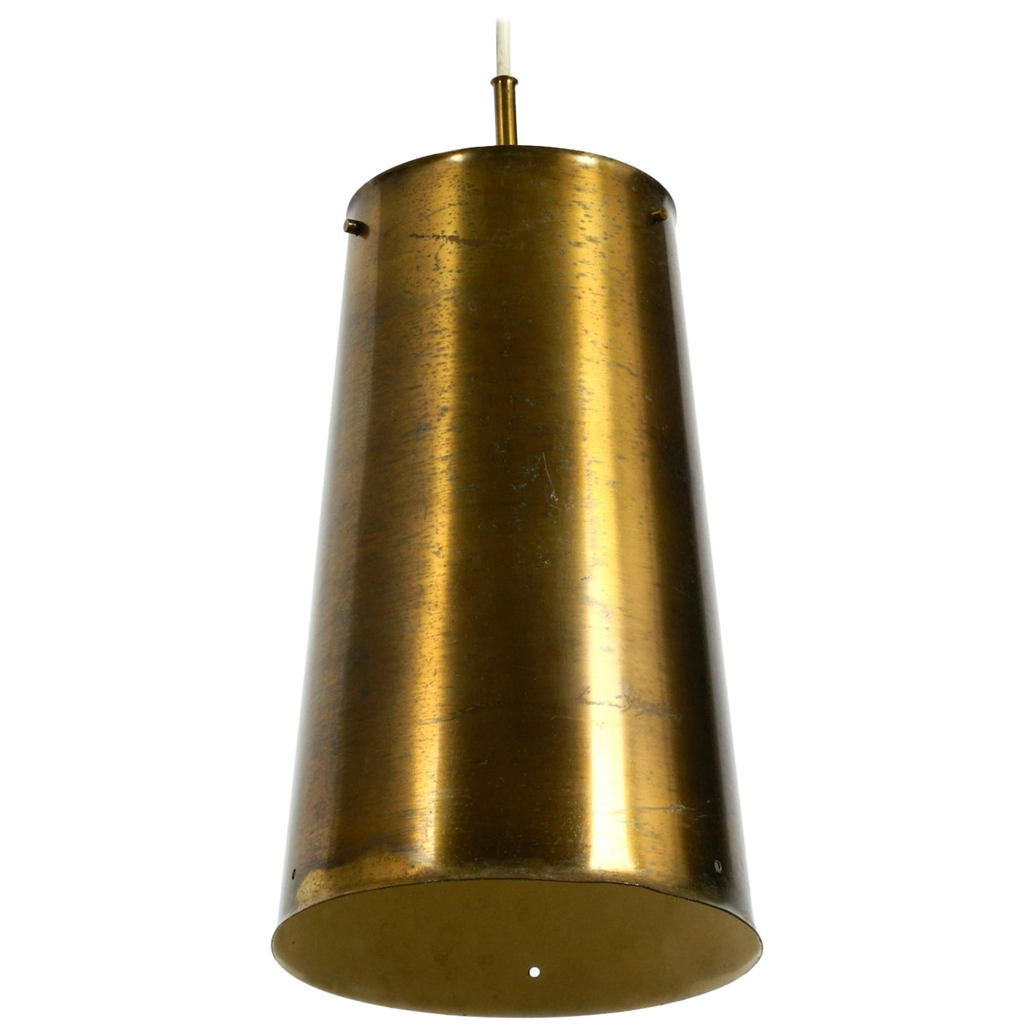 Extraordinary Large Mid-Century Modern Copper Pendant Lamp with 4 Socket