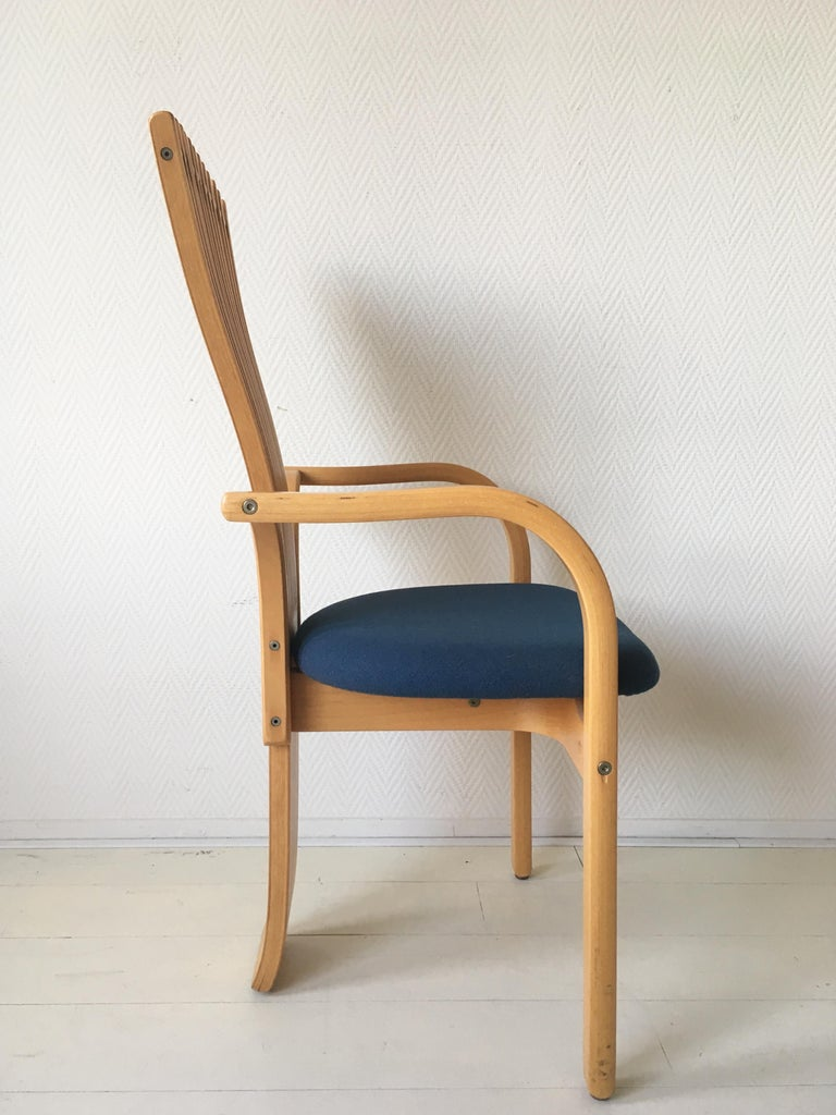 Extraordinary Memphis Style TOTEM Chairs by Torstein Nilsen for Westnofa, 1980s In Good Condition For Sale In Schagen, NL