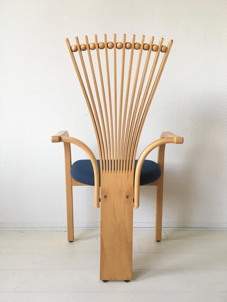 Late 20th Century Extraordinary Memphis Style TOTEM Chairs by Torstein Nilsen for Westnofa, 1980s For Sale