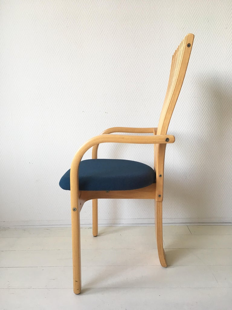 Fabric Extraordinary Memphis Style TOTEM Chairs by Torstein Nilsen for Westnofa, 1980s For Sale