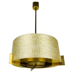 Extraordinary Midcentury Brass Chandelier by Kaiser, Germany, 1960s