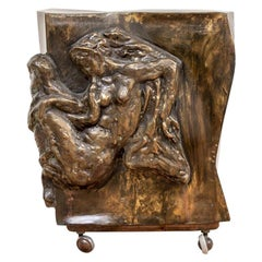 Extraordinary Midcentury Sculpted Bronze Table by Philip and Kelvin LaVerne