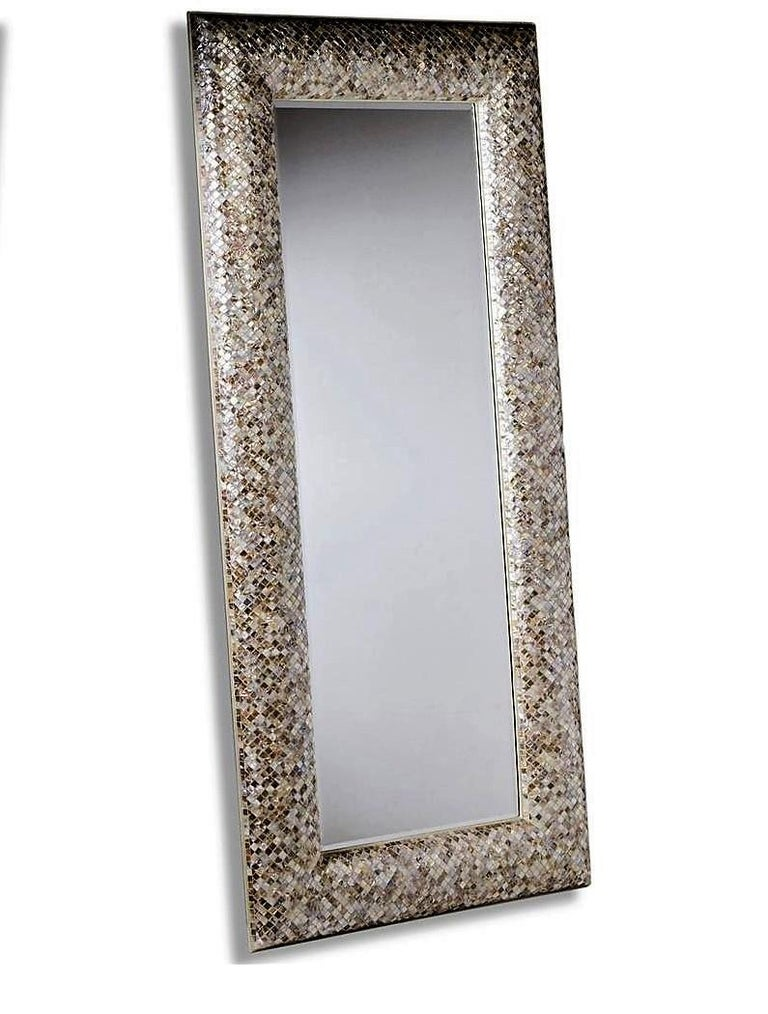 Extraordinary Mother Of Pearl Inlaid Rectangular Wood