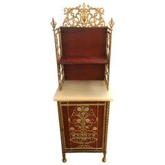 Extraordinary Renaissance Style Iron and Onyx Hall Cabinet