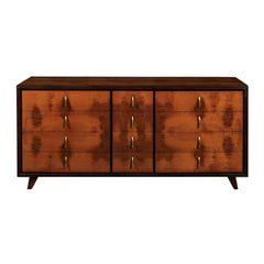 Extraordinary Restored Chest in Walnut and Elm by John Stuart, circa 1960