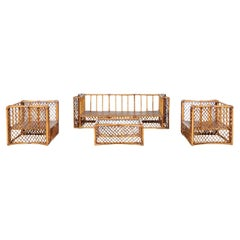 Extraordinary Restored Complete Seating Set by Vivai del Sud, Italy, circa 1976