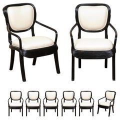 Extraordinary Set of 8 Trompe L'oiel Dining Chairs by Betty Cobonpue, circa 1980