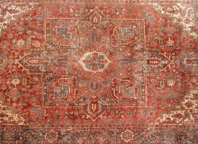 Persian Extraordinary Vintage Heriz Rug For Sale