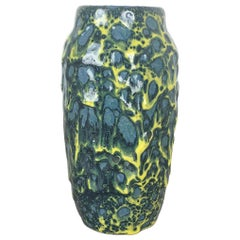 Extraordinary Vintage Pottery Fat Lava Vase Made by Scheurich, Germany, 1970s