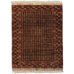 Extraordinary Vintage Turkomen Mohair Rug