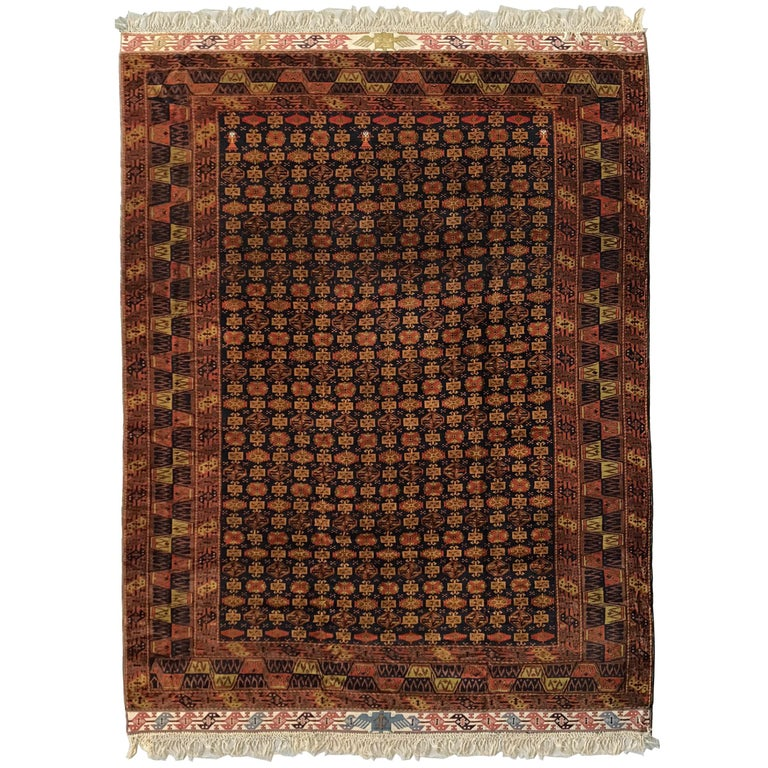 Extraordinary Vintage Turkomen Mohair Rug For Sale At 1stdibs