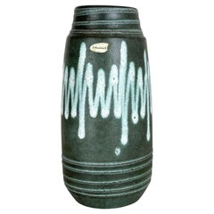 Extraordinary Zig Zag Pottery Fat Lava Vase Made by Scheurich, Germany, 1970s