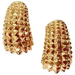 Extravagant 18 Karat Rose Gold Pyramid Motiv Clip-On Earrings by Sueños Zurich