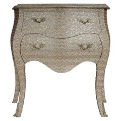 Extravagant Golden Baroque Designer Chest of Drawers with Fabric Cover