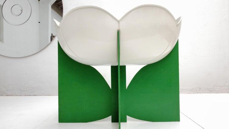 Extremely Rare, Philippe Pradalie 'Berceau Fleur', for 'Atelier A, 'Paris ,1970 For Sale 8