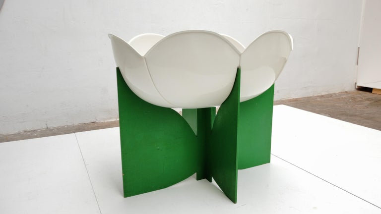 Extremely Rare, Philippe Pradalie 'Berceau Fleur', for 'Atelier A, 'Paris ,1970 For Sale 12