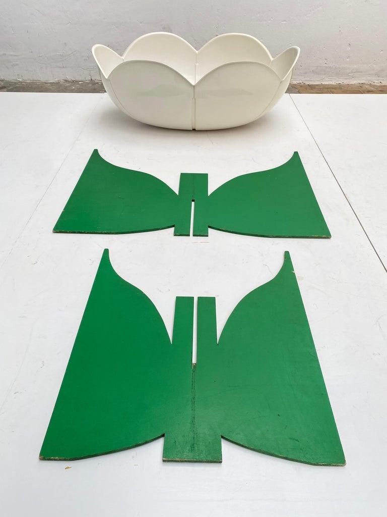 Mid-Century Modern Extremely Rare, Philippe Pradalie 'Berceau Fleur', for 'Atelier A, 'Paris ,1970 For Sale