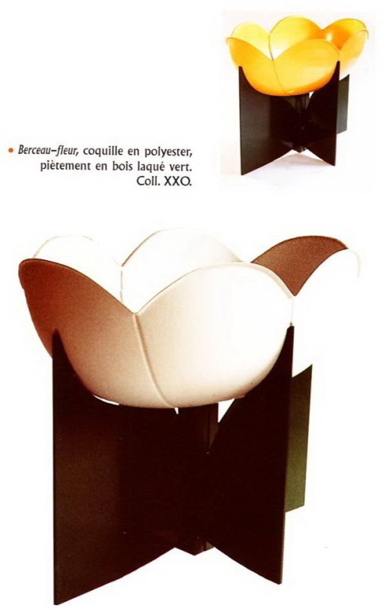 Molded Extremely Rare, Philippe Pradalie 'Berceau Fleur', for 'Atelier A, 'Paris ,1970 For Sale