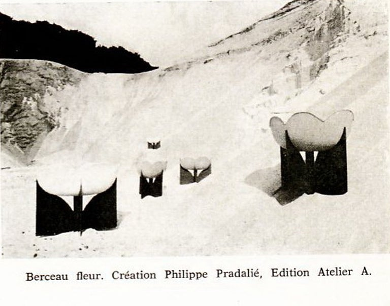 Late 20th Century Extremely Rare, Philippe Pradalie 'Berceau Fleur', for 'Atelier A, 'Paris ,1970 For Sale