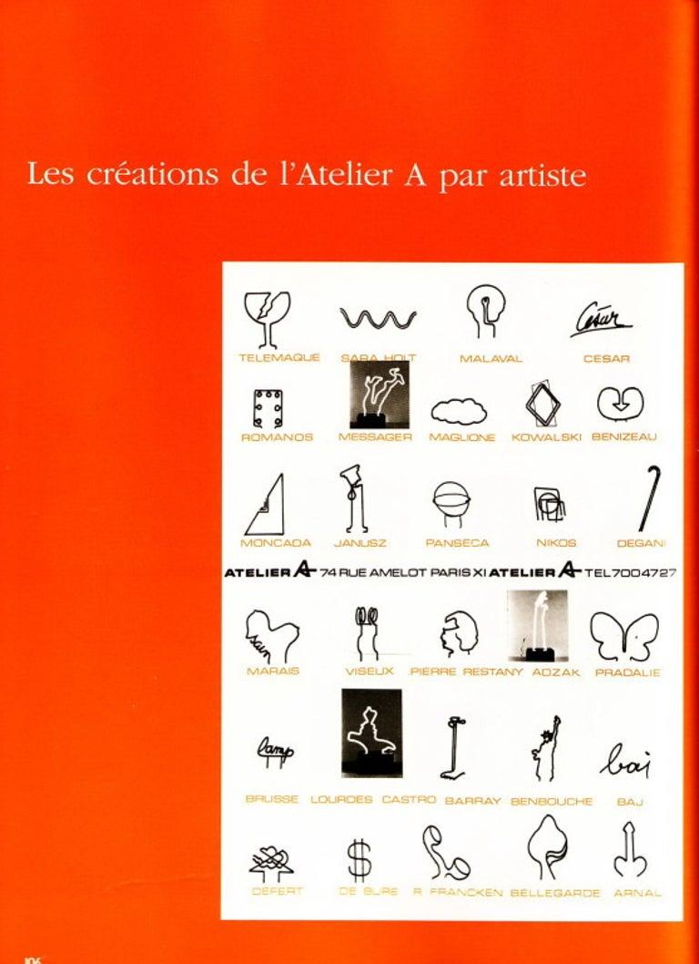 Plastic Extremely Rare, Philippe Pradalie 'Berceau Fleur', for 'Atelier A, 'Paris ,1970 For Sale