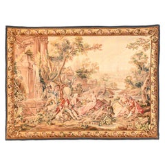 Extremely Fine Antique Aubusson-Beauvais Pictorial French Tapestry