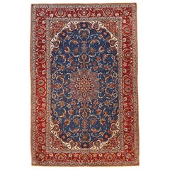 Extremely Fine Antique Persian Isfahan Rug, Hand Knotted, circa 1910