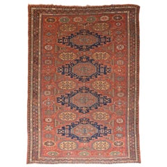 Extremely Fine Antique Soumak Russian Rug, Hand Knotted, circa 1890