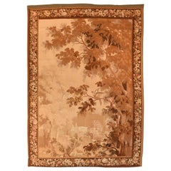 Extremely Fine Antique Verdure French Tapestry, Hand Knotted, circa 19th Century