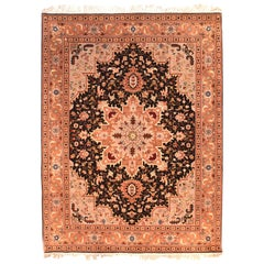 Extremely Fine Persian Tabriz Rug, Hand Knotted, circa 1970s