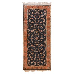 Extremely Fine Vintage Persian Tabriz Runner Rug, Hand Knotted, circa 1970s