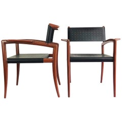 Extremely Hard to Find Pair of Klismos Chairs by Charles Allen