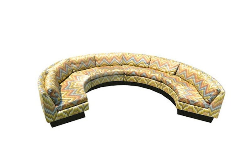 Mid-20th Century Extremely Large Circular Sectional-Erwin Lambeth Sofa For Sale