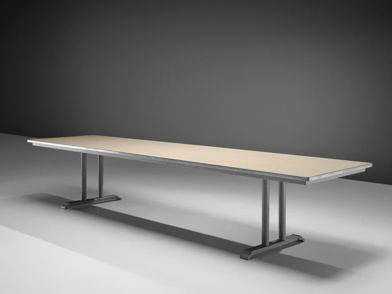 Mid-Century Modern Extremely Large Gispen Conference Table  For Sale
