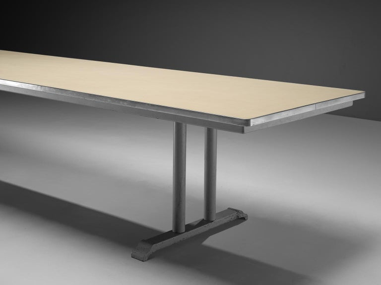 Extremely Large Gispen Conference Table  In Good Condition For Sale In Waalwijk, NL